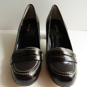 Max Studio Chunky Heeled Loafers